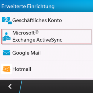 BB10 Exchange ActiveSync
