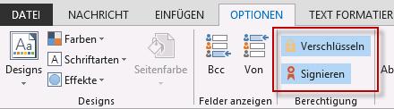 Outlook verschlüsselte E-Mail schreiben