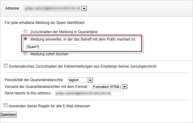 Mailcleaner Spamfilter deaktivieren